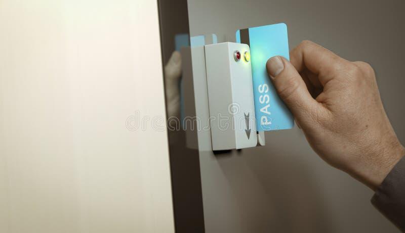 Access fixé, passage de membre illustration de vecteur