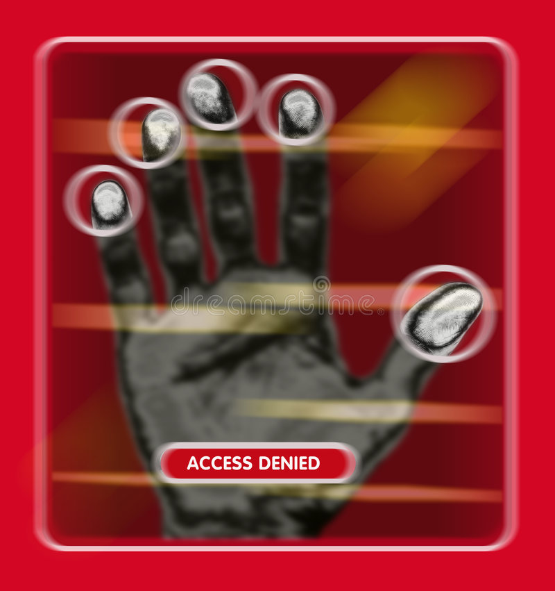 Access granted or denied stock illustration