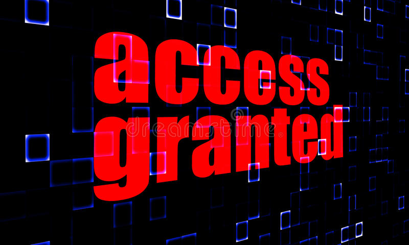 Access Granted on digital background vector illustration