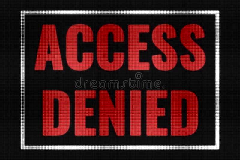 Access ha negato il testo sullo schermo scuro illustrazione vettoriale