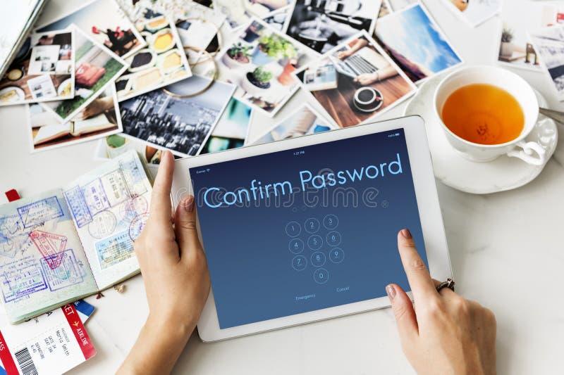 Access Identification Password Passcode Graphic Concept stock photo