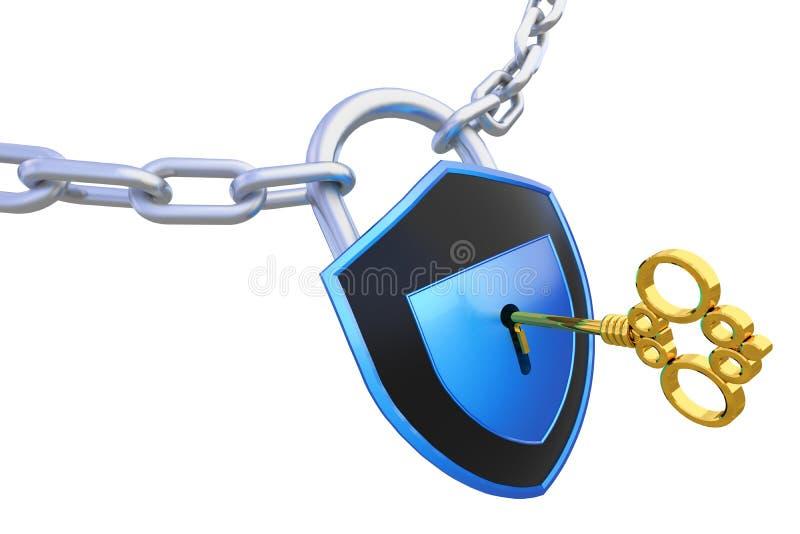 access låset till stock illustrationer