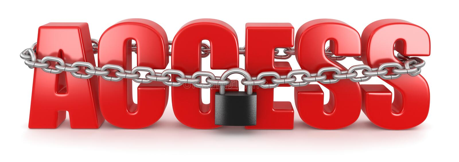 Access And Lock (clipping Path Included) Royalty Free Stock Photo