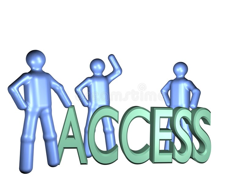 access till royaltyfri illustrationer