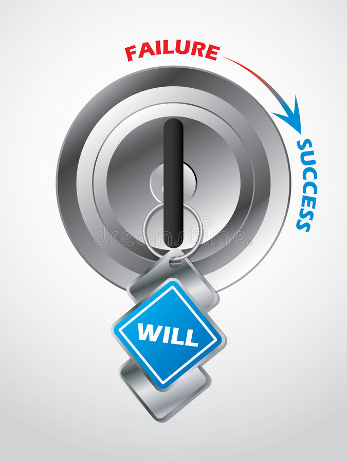 Access to success... the key is will. Power vector illustration