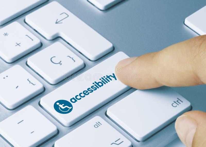 Accessibilité - Inscription sur la clé de clavier Whit photographie stock