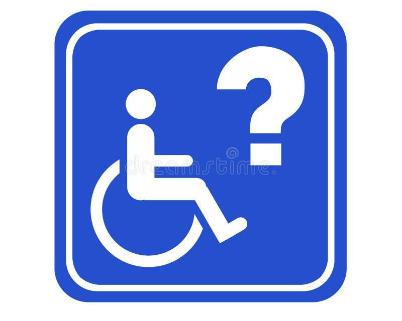 Accessible handicapé illustration stock