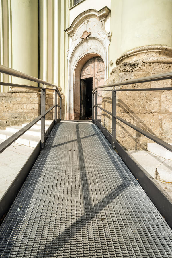 Download Accessible path to church stock image. Image of care - 30733493