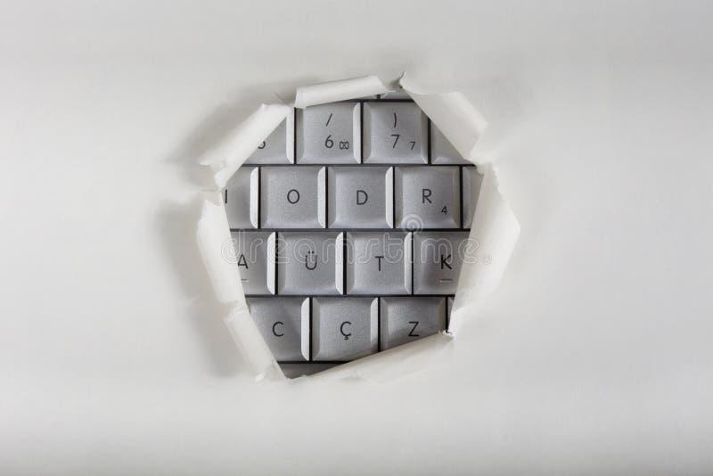Accesso del calcolatore immagine stock