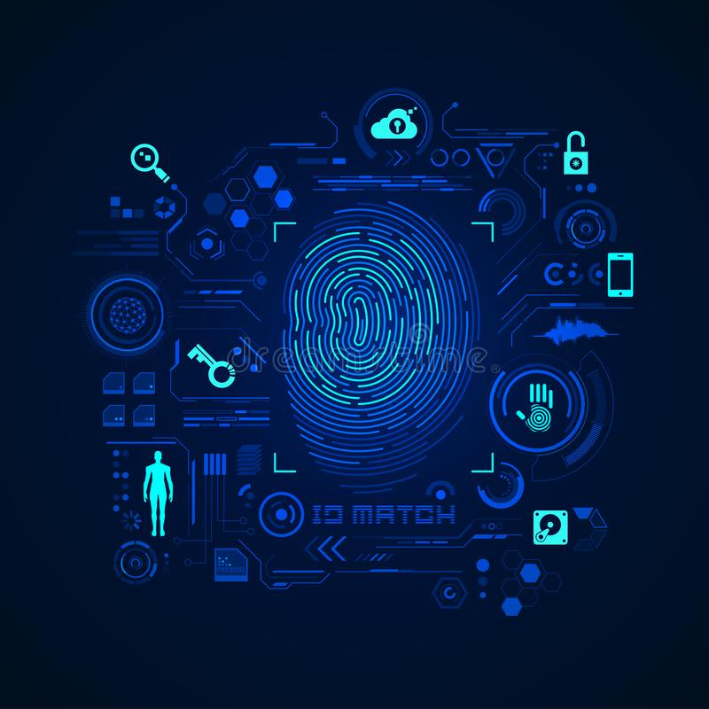 Accesso dell'impronta digitale illustrazione vettoriale