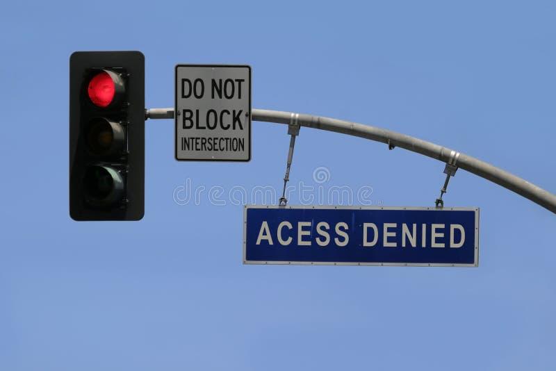 Accesso negato fotografia stock libera da diritti