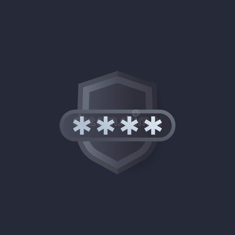 Accesso selezionato, sicurezza informatica illustrazione di stock