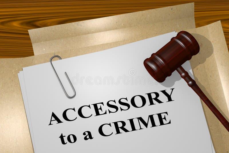 Accessoire à un crime - concept juridique illustration stock