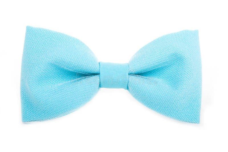 Accessoire bleu de noeud papillon pour les personnes respectables sur un whi d'isolement images stock