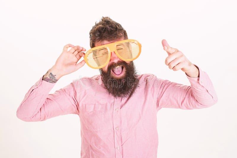 Accessoire d'?t? de lunettes de soleil de protection oculaire Le volet d'usage de hippie ombrage les lunettes de soleil extr?meme photo stock