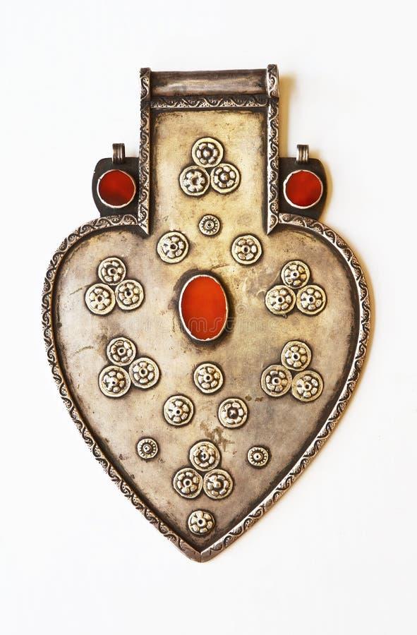 Accessoire de bijou sous la forme du coeur photo libre de droits