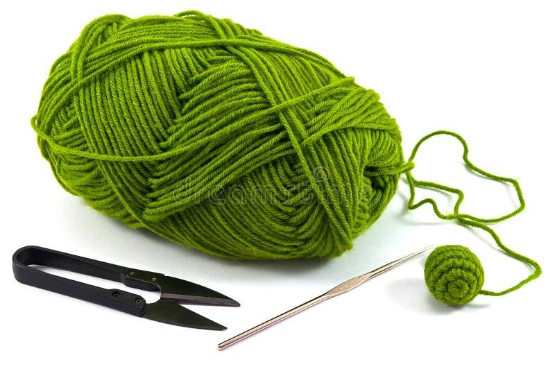 Accessoire de travail de crochet photos stock