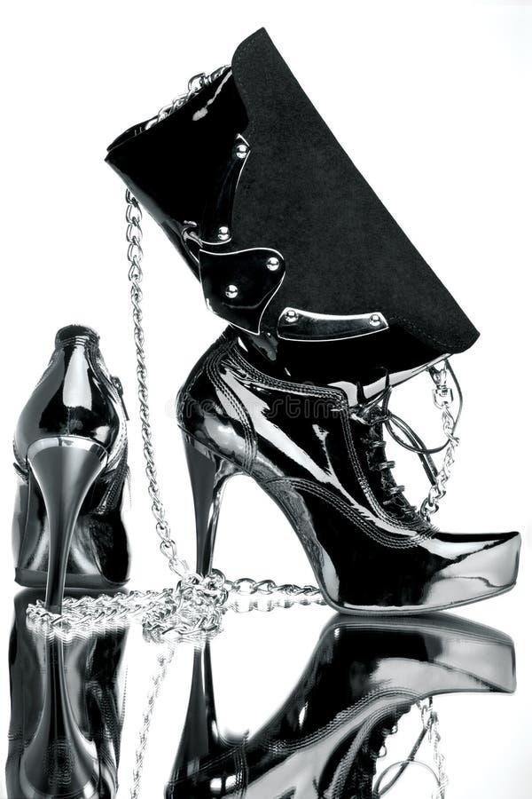 Accessoires élégants noirs image libre de droits