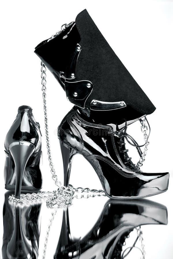 Accessoires élégants noirs image stock