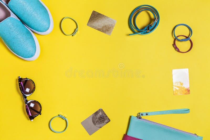 Accessoires élégants pour des femmes photos libres de droits