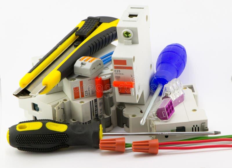 Accessoires électriques image stock