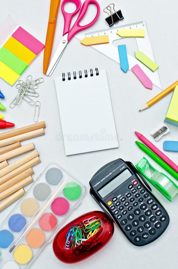 Accessoires d'école photo libre de droits