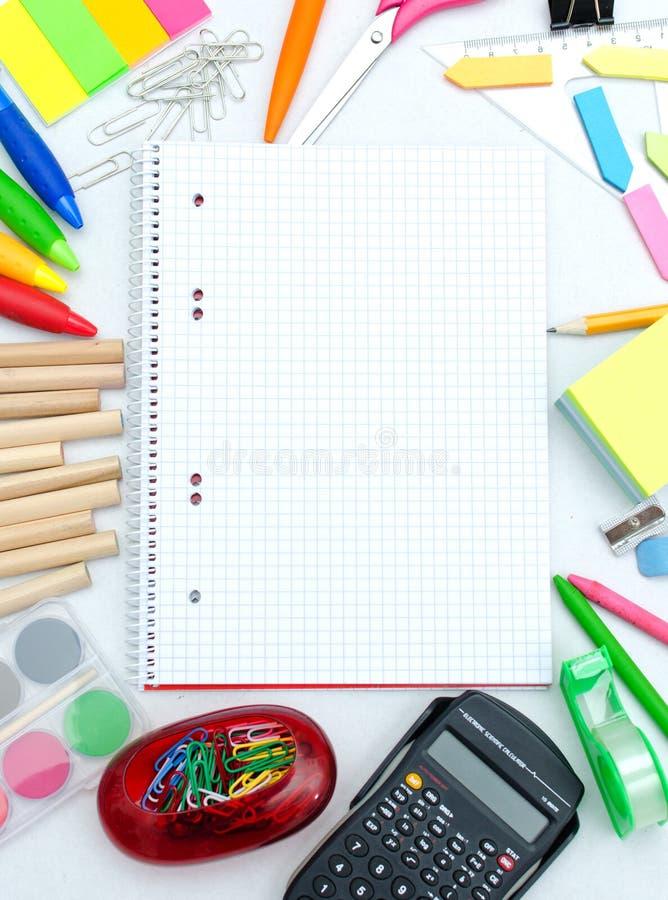 Accessoires d'école image stock