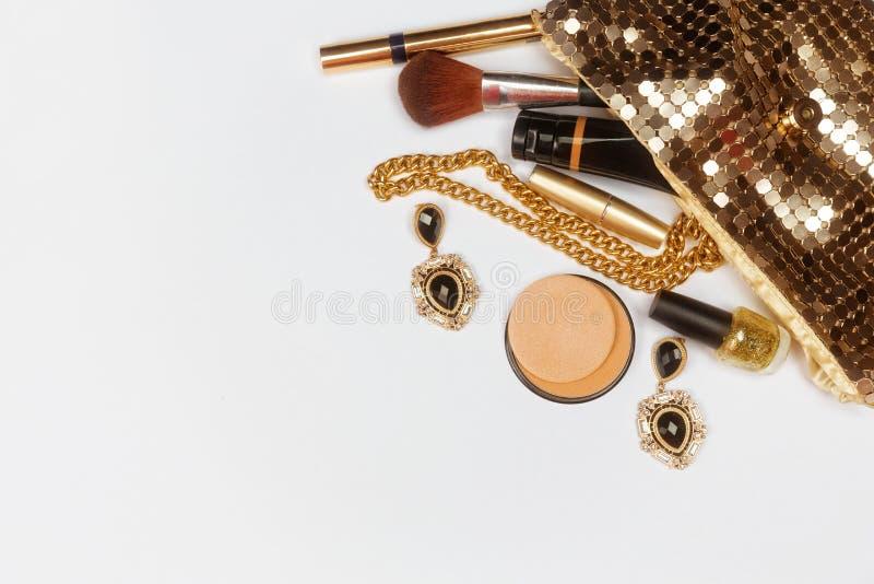 Accessoires d'or de femme images stock