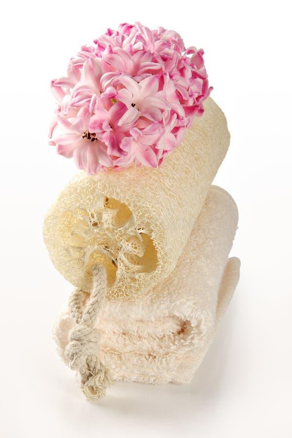 Accessoires de Bath et élément aromatherapy photos stock