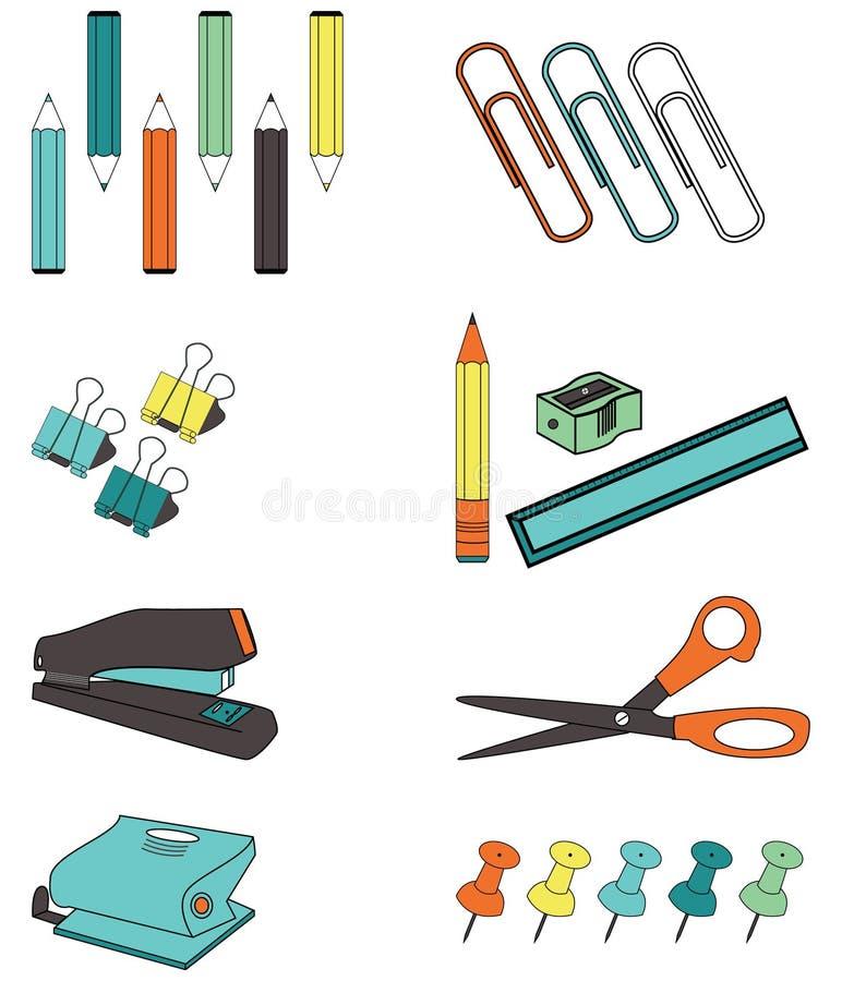 Accessoires de bureau illustration stock
