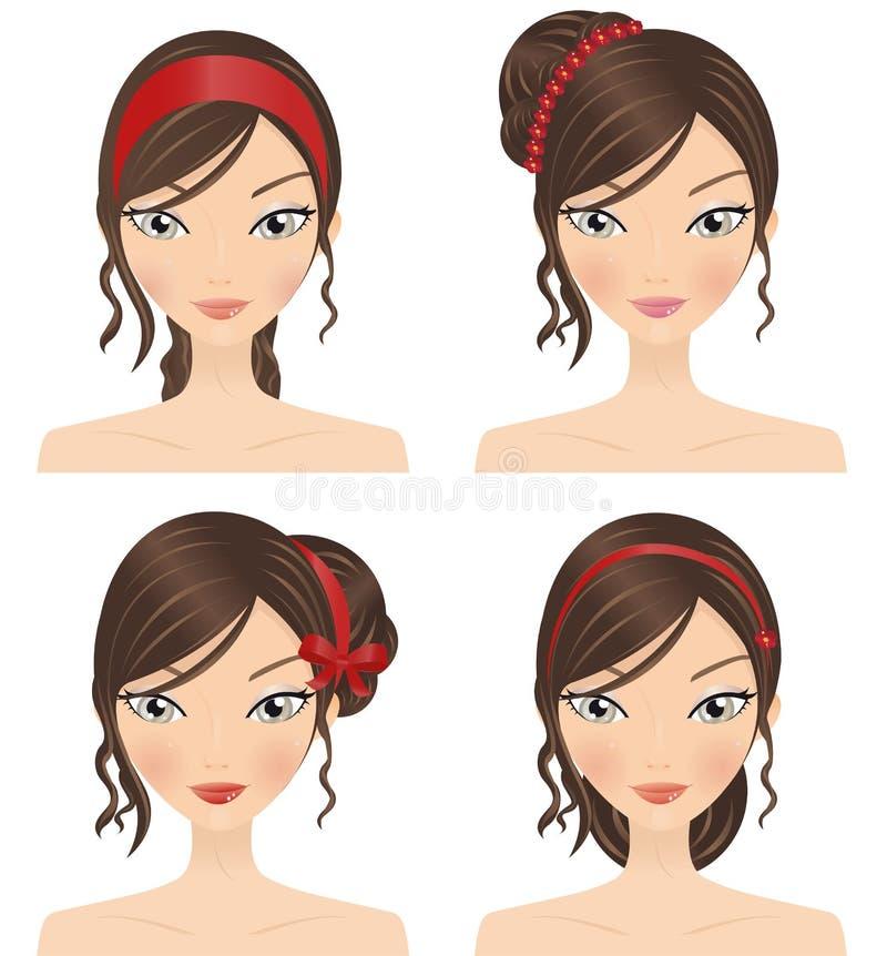 Accessoires de cheveu illustration libre de droits