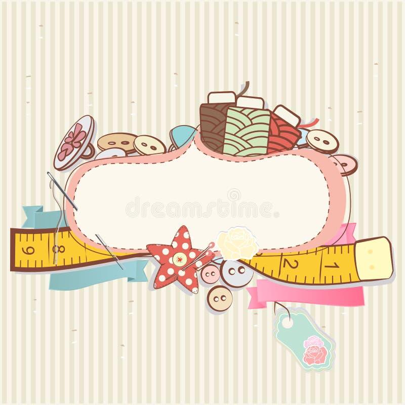 Accessoires de couture illustration de vecteur