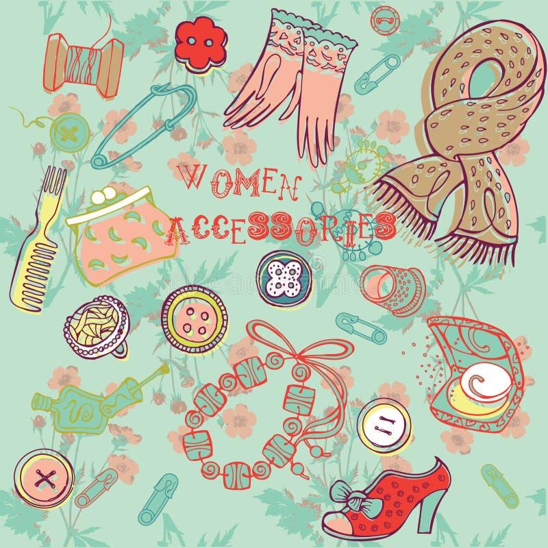 Accessoires de femme illustration stock