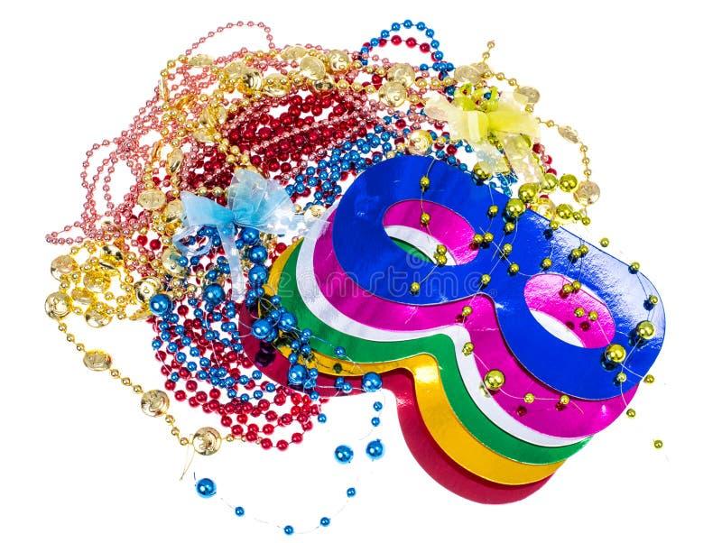 Accessoires de mascarade pour des parties de Mardi Gras photographie stock libre de droits
