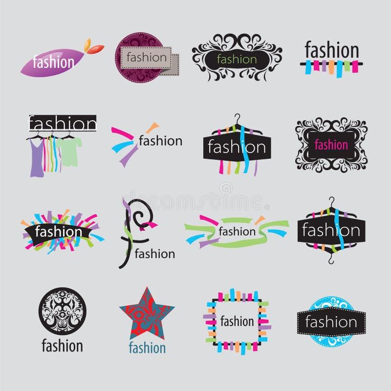 Accessoires de mode de logos de vecteur illustration stock