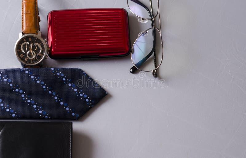Accessoires de mode pour un homme d'affaires images libres de droits