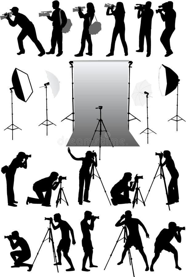 Accessoires de photo illustration libre de droits
