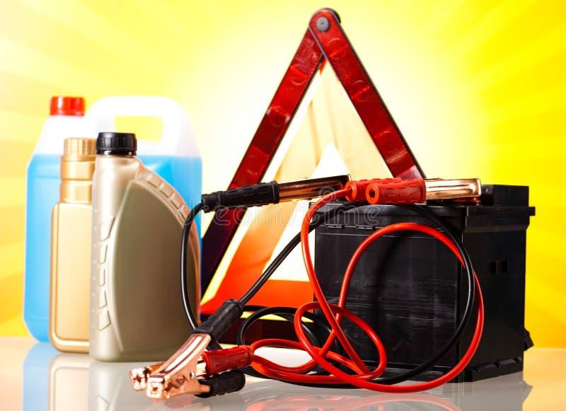 Accessoires de pièces sur le concept vif de moto photographie stock libre de droits