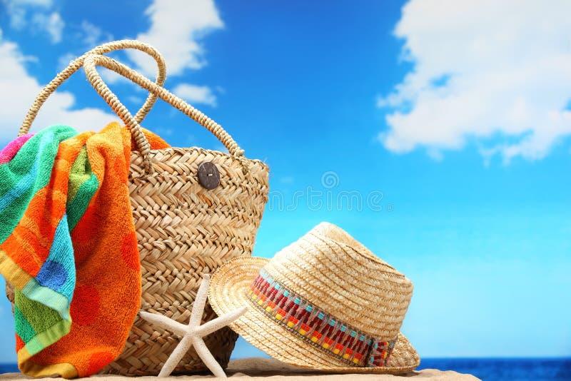 Accessoires de plage photo stock