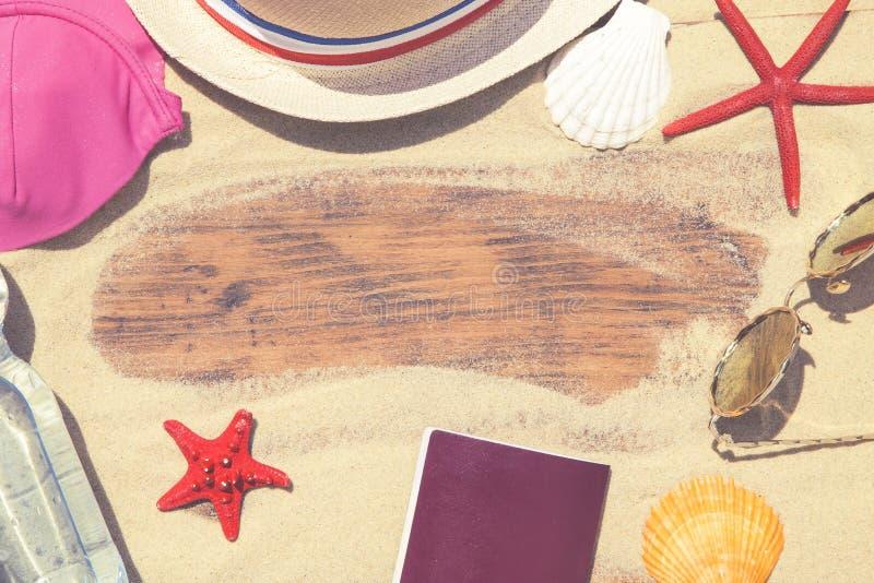 Accessoires de plage photographie stock libre de droits