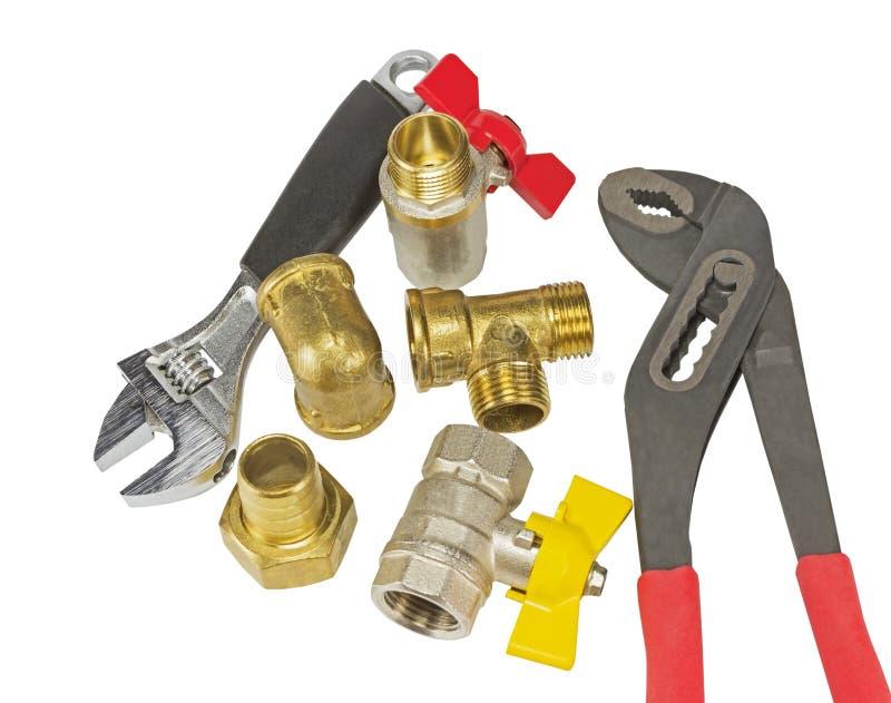 Accessoires et outils de tuyauterie photos stock