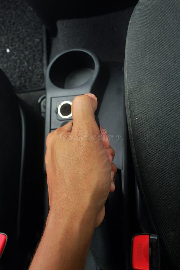 Accessoires et pièces fonctionnants de voiture de circuit de freinage de main photographie stock libre de droits