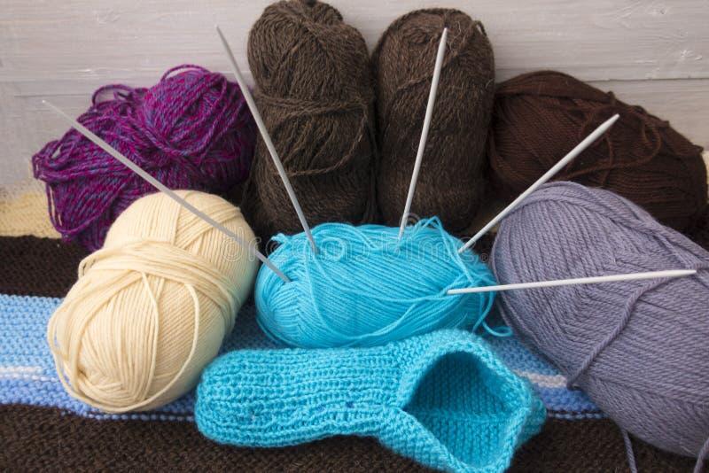Accessoires pour le tricotage image libre de droits