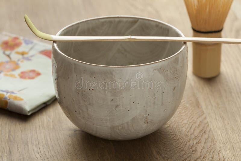 Accessoires pour préparer le thé japonais de matcha photos libres de droits