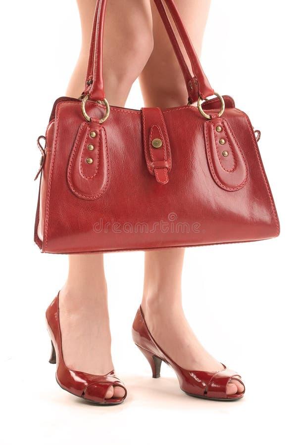 Accessoires rouges images stock