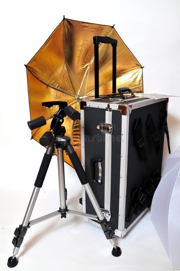 Accessori del fotografo dello studio fotografie stock libere da diritti