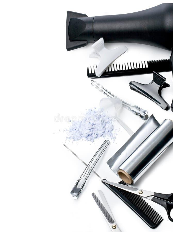 Accessori del parrucchiere fotografia stock