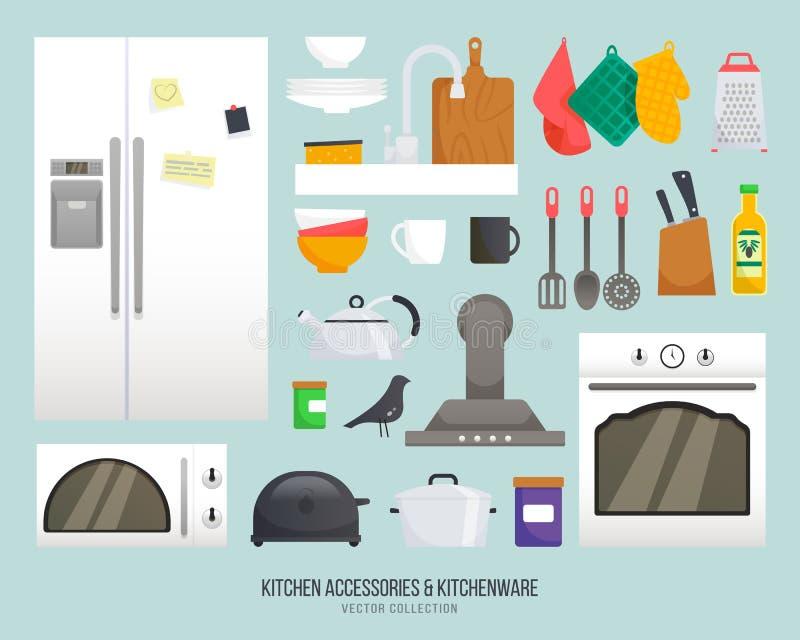Accessori Della Cucina Raccolta Di Vettore Dell\'articolo Da Cucina ...