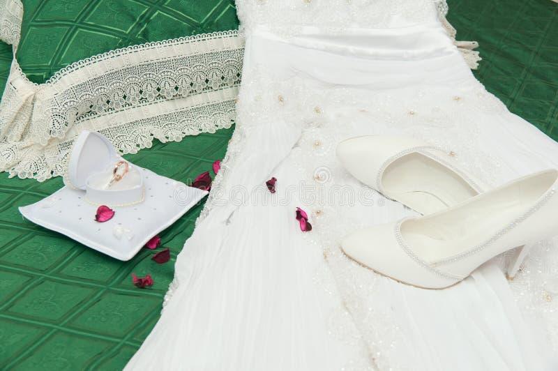 Accessori di cerimonia nuziale fotografia stock