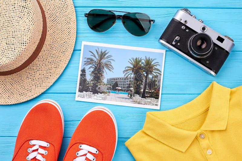 Accessori di estate ed insieme di modo fotografia stock